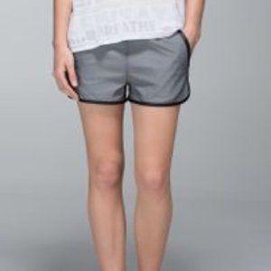 Lululemon Gray Black Athletic Varsity Shorts 6